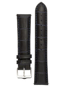 Классический ремешок для часов из кожи теленка с фактурой под аллигатора. Ширина от 14 до 24 мм. Signature 3873985