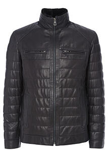 Кожаная куртка с подкладкой из овчины Jorg Weber 324884