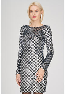 Платье с пайетками La Reine Blanche 321271
