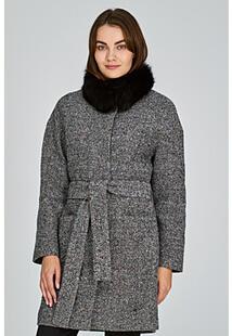 Полушерстяное пальто с отделкой мехом песца La Reine Blanche 315198