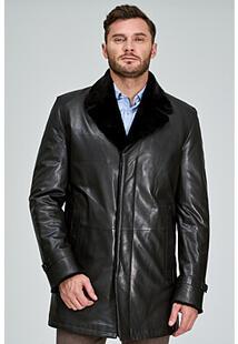 Кожаная куртка с подкладкой из овчины Jorg Weber 317379