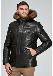 Кожаная куртка с подкладкой из овчины Jorg Weber 317369