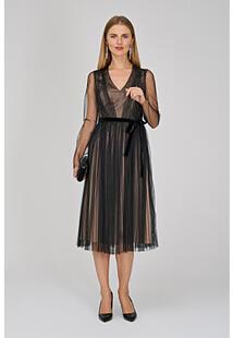 Комбинированное платье La Reine Blanche 315203