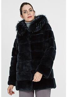 Шуба из меха кролика с капюшоном Virtuale Fur Collection 306101