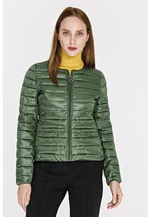 Стеганая куртка без воротника La Reine Blanche 306272