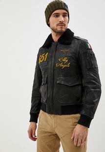 Куртка кожаная Aeronautica Militare AE003EMKCKJ7I520