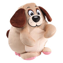 Игрушка-вывернушка СмолТойс Собака-Свинья 30 см цвет: бежевый 11317352