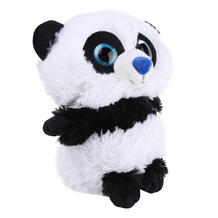 Мягкая игрушка СмолТойс Панда Глазастик 29 см цвет: белый/черный 11510122