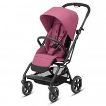 Коляска прогулочная Eezy S Twist+ 2 BLK Magnolia Pink с бампером и дождевиком, розовый Cybex 633694