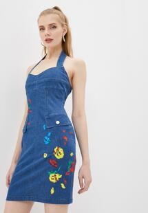 Платье джинсовое Love Moschino LO416EWLZCJ6I400