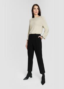 Прямые брюки из поливискозы с эластичным поясом O`Stin 184815990299