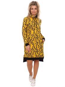Платье трикотажное Симфония (горчичное) Инсантрик 43682