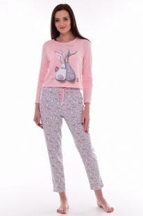 Пижама трикотажная Нина (серо-розовая) Инсантрик 44096