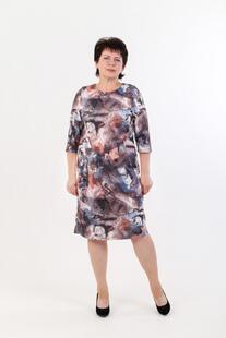 Платье трикотажное Кира (абстракция) Инсантрик 44429