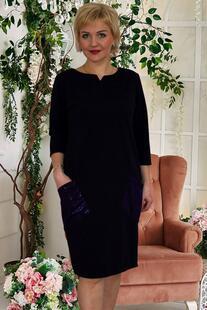 Платье трикотажное Алиссия (синее) Инсантрик 45874
