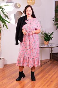 Платье штапельное Аксинья (розовое) Инсантрик 45195