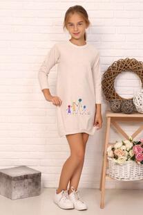 Платье детское Рада (бежевое) Инсантрик 43830