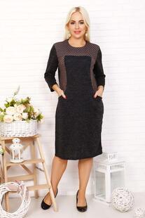 Платье трикотажное Капека (коричневое) Инсантрик 44880