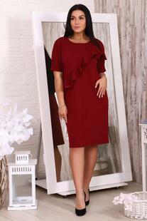 Платье трикотажное Адоллина (бордовое) Инсантрик 48186