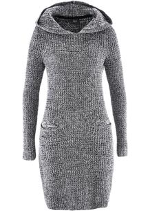 Платье вязаное с капюшоном bonprix 263325556