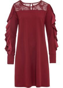 Платье с воланами и кружевом bonprix 263724822