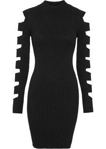 Вязаное платье с разрезами bonprix 263299112
