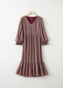 Платье макси с воланами bonprix 261743655