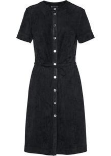Платье из велюра bonprix 264059137