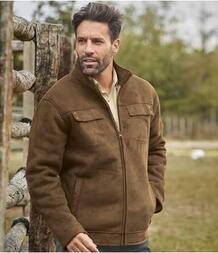 Куртка из Искусственной Замши с Подкладкой из Шерпы AFM 3102593