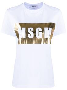 футболка с круглым вырезом и логотипом MSGM 1484986083