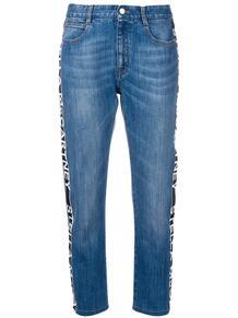 джинсы с логотипами на лампасах Stella Mccartney 137834225057