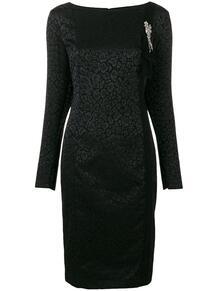 платье с длинными рукавами и анималистическим принтом Cavalli Class 131752335252