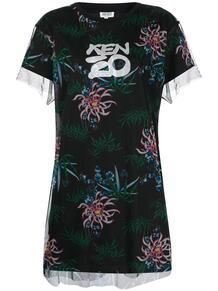 платье-рубашка с принтом Sea Lily Kenzo 1497874476
