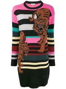 платье-джемпер с вышивкой Double Tiger Kenzo 1437693476