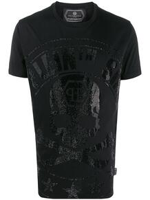 футболка с декором Skull PHILIPP PLEIN 146717178888888876