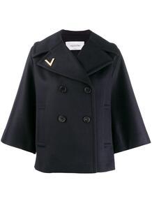 пальто с расклешенными рукавами Valentino 141879195252