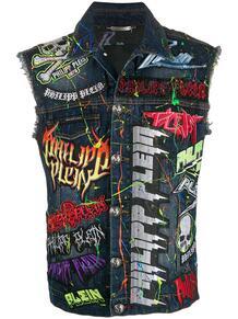 джинсовый жилет Rock PP PHILIPP PLEIN 148141068876