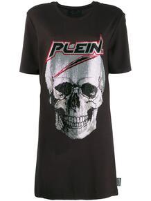 платье-футболка с принтом Skull PHILIPP PLEIN 140473608883