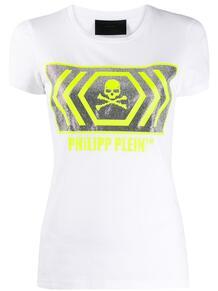 футболка с короткими рукавами и декором Skull PHILIPP PLEIN 1467163577