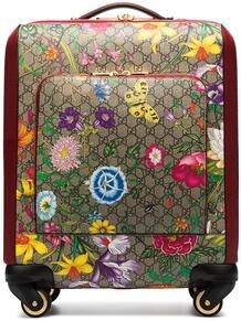 чемодан Ophidia с узором GG Supreme и принтом Flora Gucci 14571031636363633263
