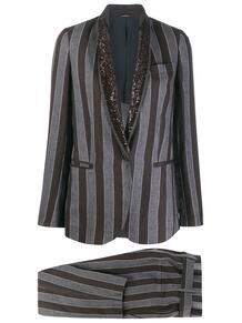 брючный костюм в полоску BRUNELLO CUCINELLI 1399365577