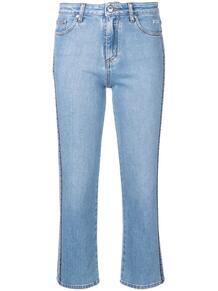 укороченные джинсы с логотипом MSGM 135235895156