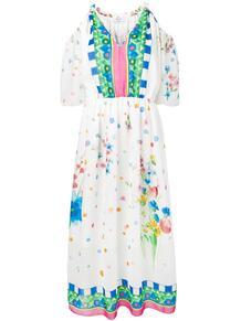 платье с открытыми плечами Blugirl 138811165254