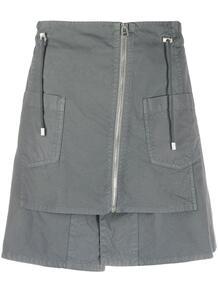 мини-юбка на молнии с кулиской Mr & Mrs Italy 1541356788888883