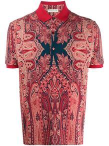 рубашка-поло с принтом пейсли Etro 148979148876