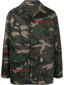камуфляжная куртка с принтом Valentino 146666595254