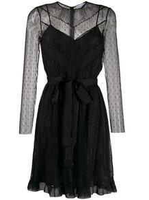 многослойное платье из тюля RED VALENTINO 144876005252