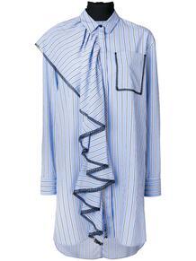 длинная рубашка с оборками MSGM 126414365250