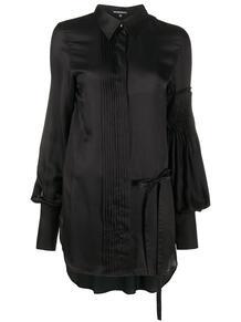 удлиненная рубашка со складками Ann Demeulemeester 156237365248