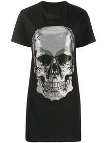 платье-футболка с декором Skull PHILIPP PLEIN 1552057376